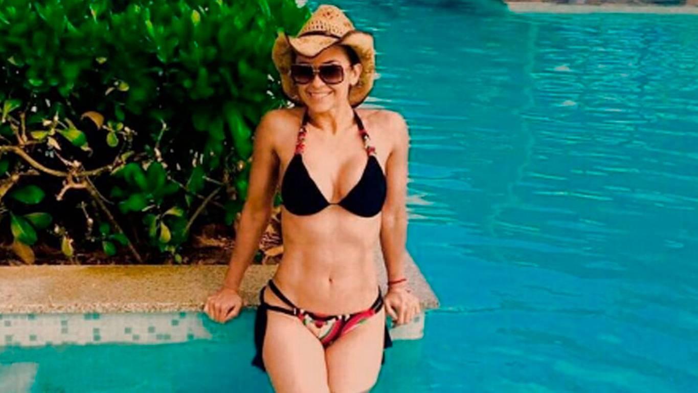 ¿Cuál es su secreto? El abdomen perfecto de Aracely Arámbula a los 42 años