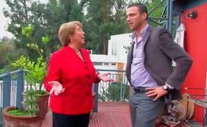 Bachelet en la intimidad de su hogar