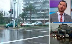 Lluvias provocan graves problemas en Santiago