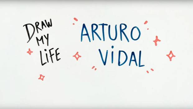 "El notable ""Draw my life\"" de Arturo Vidal"