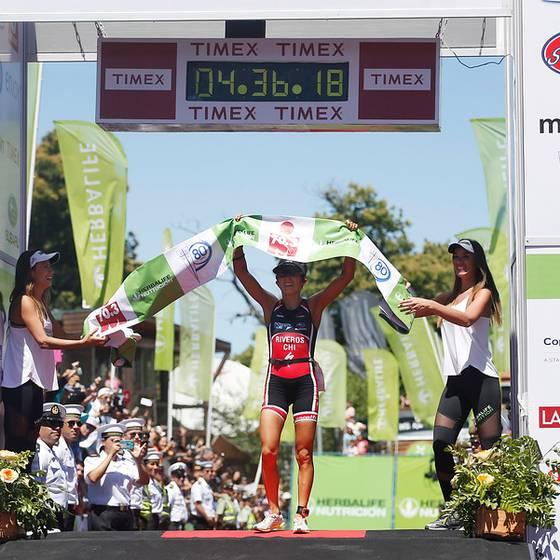 Bárbara Riveros, tricampeona del Ironman