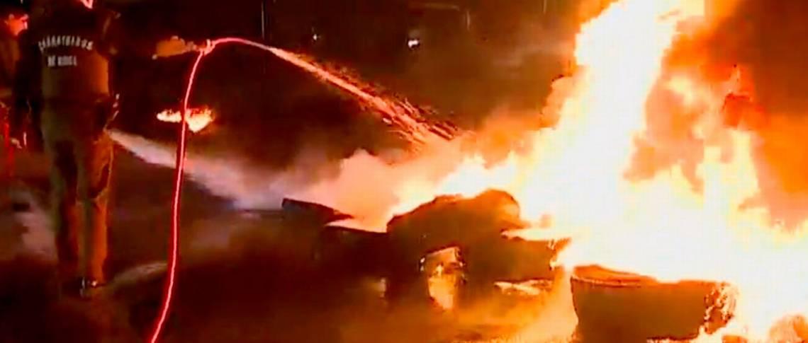 No+AFP: Barricadas provocan gran congestión en Alameda