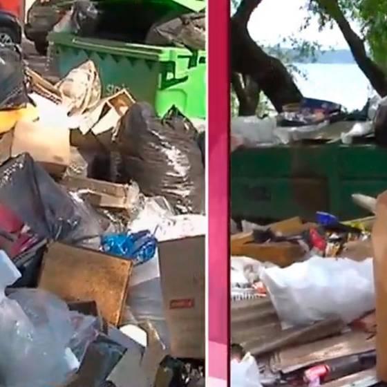 Alarmante acumulación de basura en Santiago