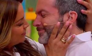 ¡Se volvió loco! Cristián Sánchez besó a Marlen y a todos en MBD