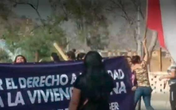 Continúa conflicto entre villa y campamento en San Bernardo