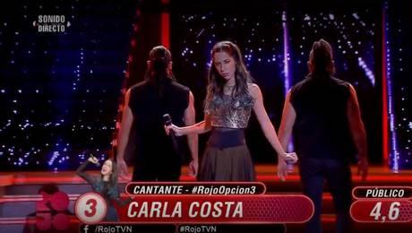 Carla Costa no convenció con su interpretación
