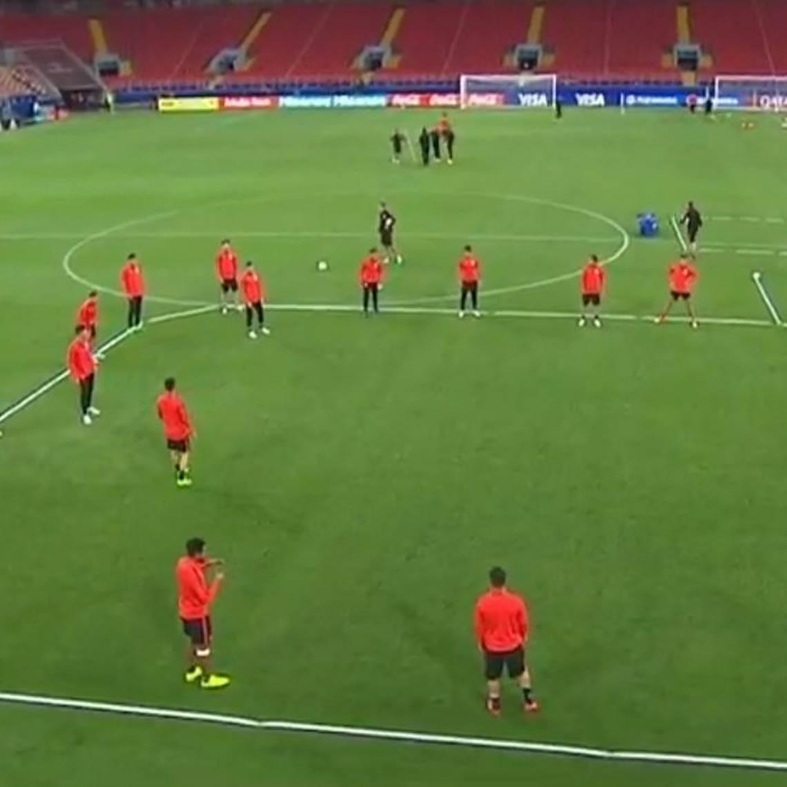 ¡Sin Alexis! Vimos la práctica de La Roja antes del debut