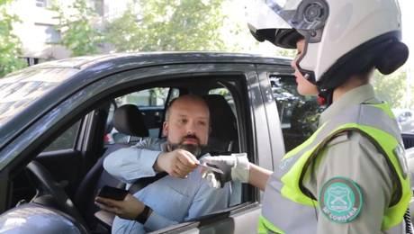 Un control policial que termina de una manera inesperada