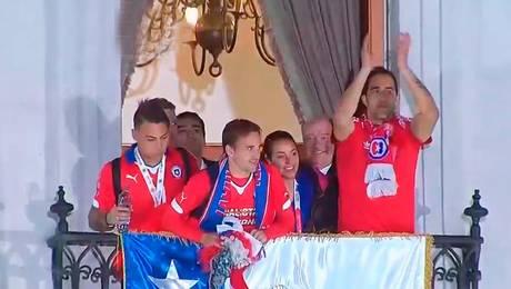 La Roja festejó en La Moneda
