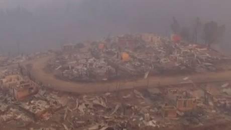 Dron capta imágenes de destrucción en Santa Olga