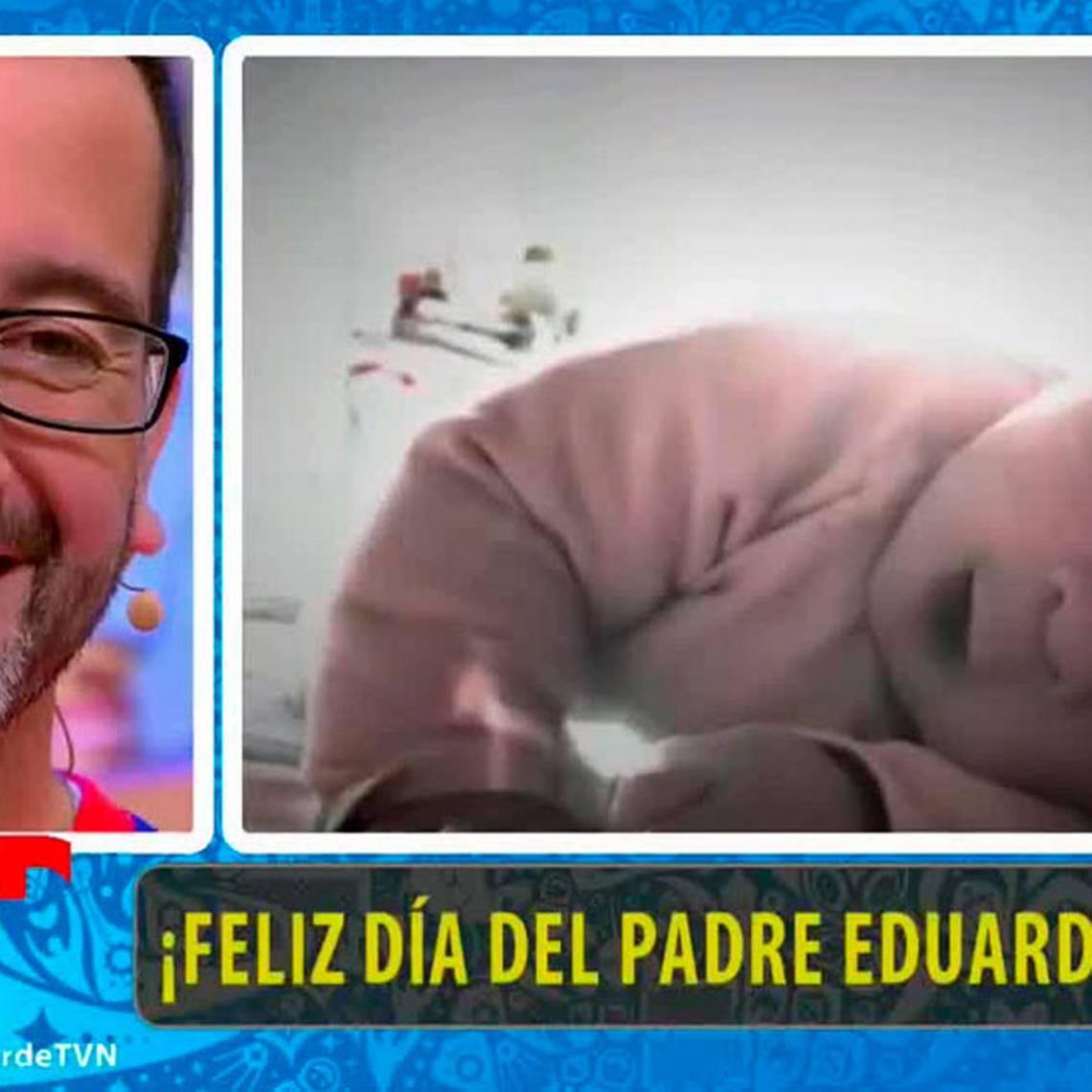 Eduardo Fuentes recibió emotiva sorpresa en el día del padre