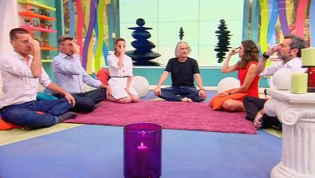 Elenco de Muy Buenos Días se somete a técnicas de meditación