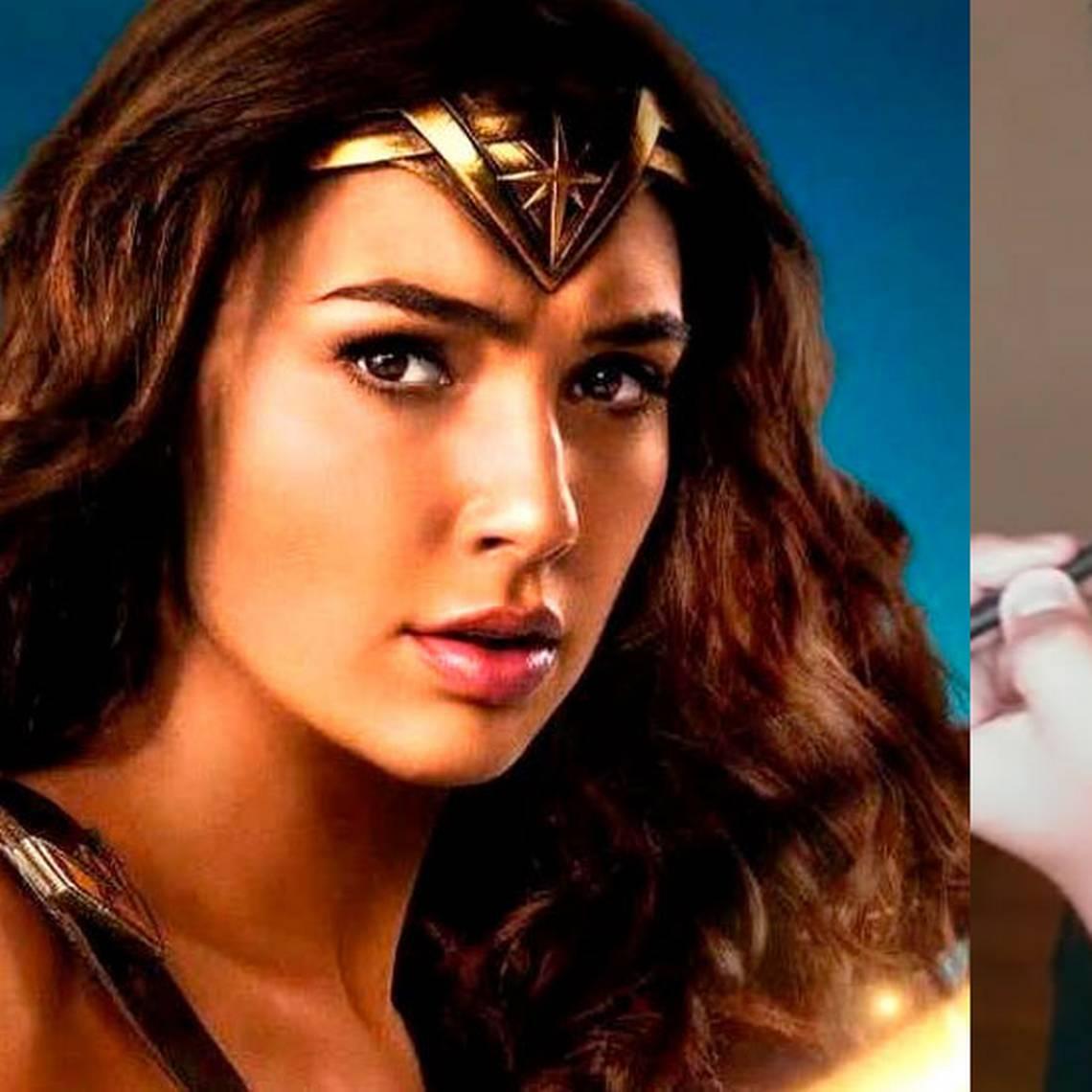 ¡Idénticos! Actor luce igual a La Mujer Maravilla solo con maquillaje