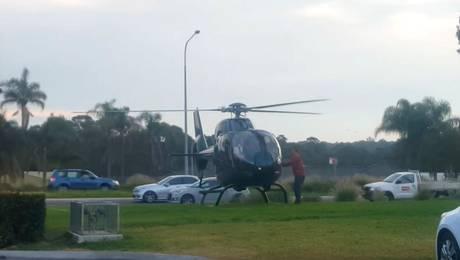 ¡Qué! Piloto aterrizó su helicóptero sólo por una hamburguesa