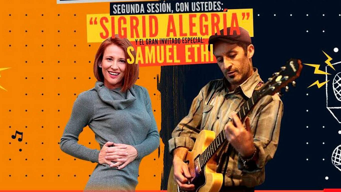 Lucho Castillo y Sigrid Alegría iluminan la noche santiaguina