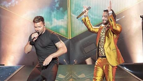 Ricky Martin aparece de sorpresa en concierto de Maluma