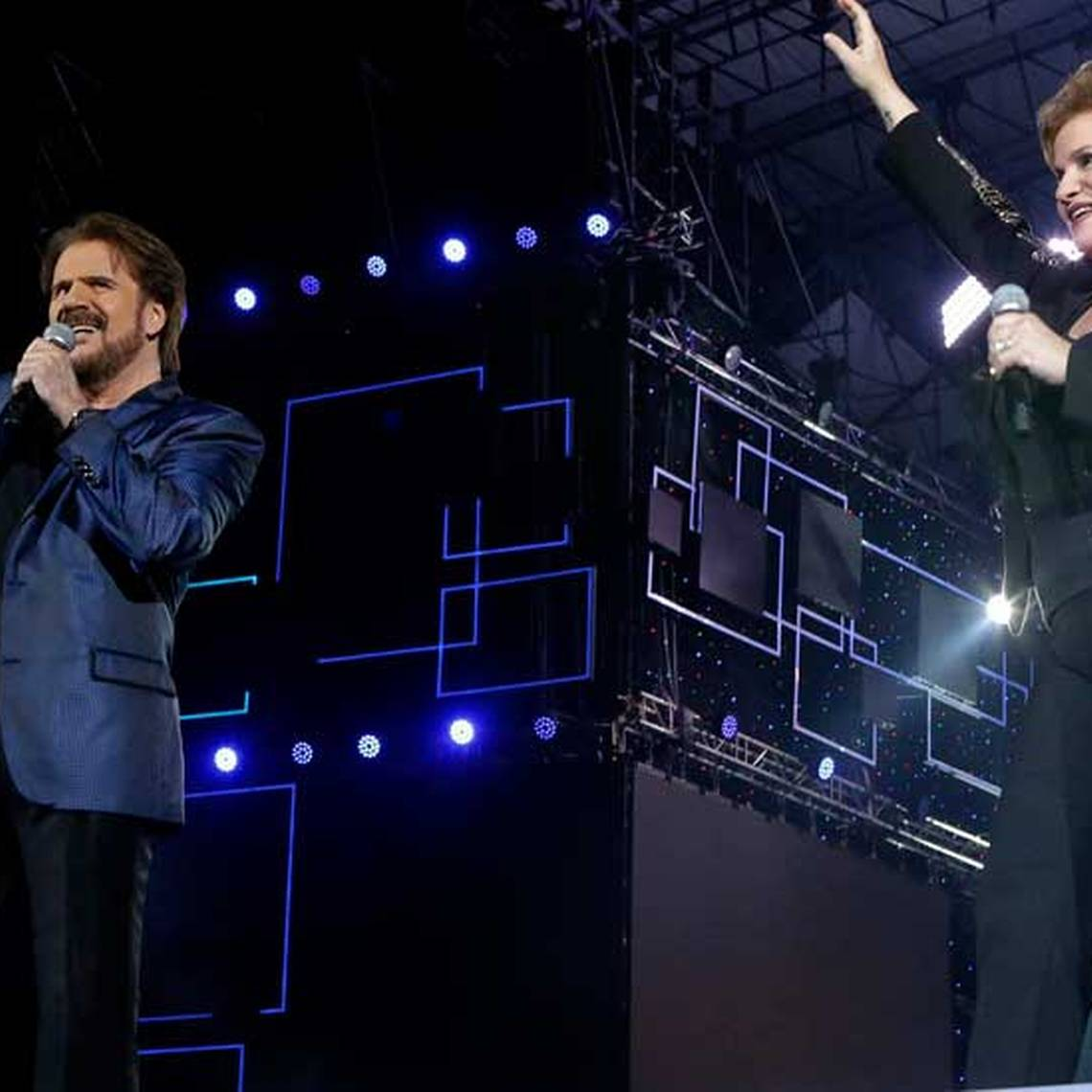 Pimpinela lideró la sintonía con espectacular show en Talca