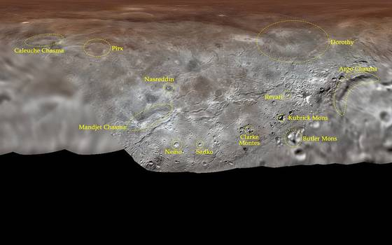 """Cráter de la luna de Plutón recibe como nombre \""""Caleuche Chasma\"""""""