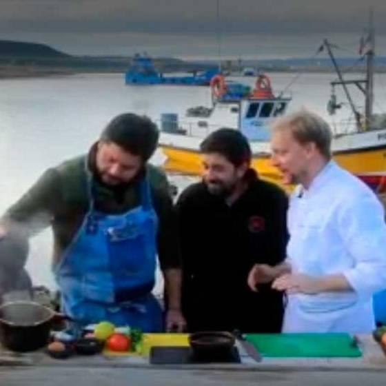 Centollón y salmón salvaje en Porvenir