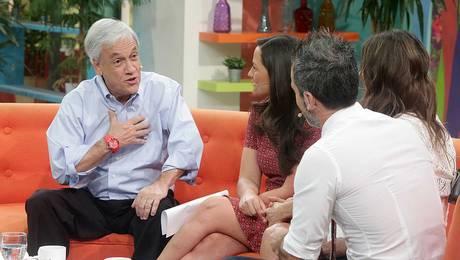 Candidato Sebastián Piñera visitó el set de Muy Buenos Días