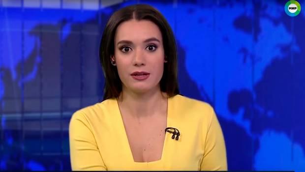 Presentadora se lleva insólita sorpresa en noticiario