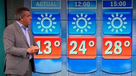 El hombre del tiempo: ¡Máxima podría llegar a 30 grados!