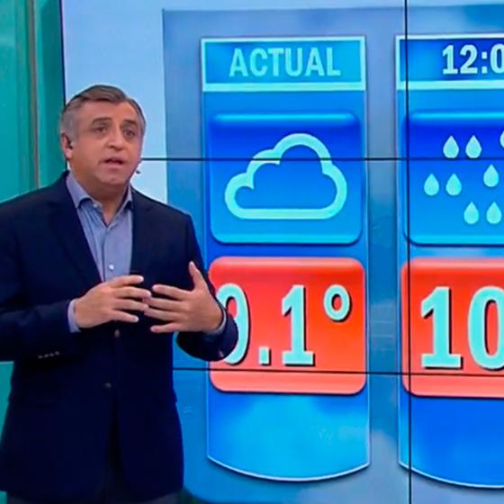 Lluvias llegan hoy a toda la Región Metropolitana