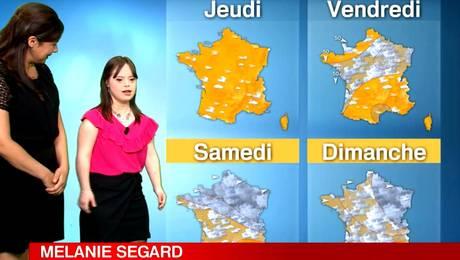 Chica del tiempo Down revienta el rating en Francia