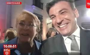 Yann cenó con la presidenta Bachelet